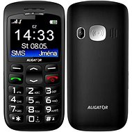 Aligator A670 Senior Black + Desktop Charger - Mobile Phone