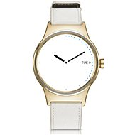 TCL MOVETIME Leather Gold/White - Smartwatch