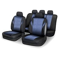 COMPASS Seat covers set 9pcs POLY blue AIRBAG - Car Seat Covers