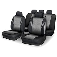 COMPASS Seat covers set 9pcs POLY grey AIRBAG - Car Seat Covers