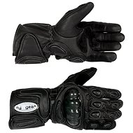 Motorcycle glove TECH leather with protectors size M - moto gloves