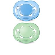 Philips AVENT SENSITIVE Soother 6-18 Months, Blue and Green - Pacifier