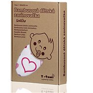 T-tomi Bamboo wrapper 1pcs - hearts - Wrap blanket
