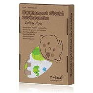T-tomi Bamboo wrapper 1 pc - green elephants - Wrap blanket