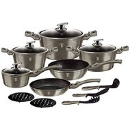 BerlingerHaus Cookware Set Carbon Metallic Line 15pcs - Cookware Set