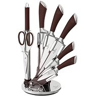BerlingerHaus Knife Set 8pcs with Stand Infinity Line Brown - Knife Set