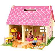 Portable wooden doll house - Doll Accessory