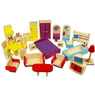 Wooden furniture for dollhouses - Play Set