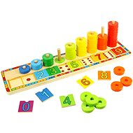 Wooden Motorbike - Set up with numbers - Educational Toy