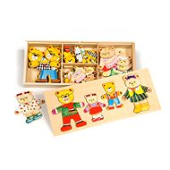 Bigjigs Wooden Figures - Bear Family - Puzzle