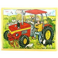 Bigjigs Wooden puzzle - Tractor - Puzzle