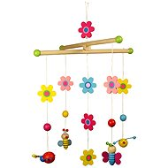 Bigjigs Hanging Roundabout - Flowers and butterflies - Crib Toy