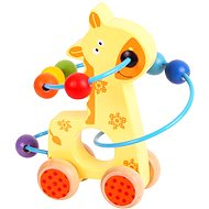 Bigjigs Motor labyrinth on wheels - Giraffe - Didactic Toy
