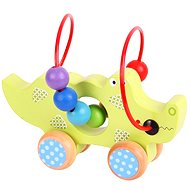 Motor labyrinth on wheels - Crocodile - Didactic Toy