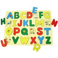 Bigjigs Wooden Insertion Puzzle - English Alphabet with Pictures - Puzzle