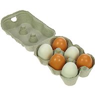 Bigjigs Wooden Food - Wooden eggs in a box - Play Set