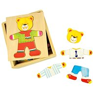 Bigjigs Wooden dressing puzzle in a box - Mr. Bear - Puzzle