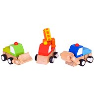 Bigjigs Colorful toy cars - Toy Car Set