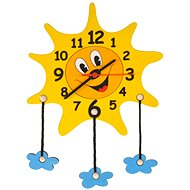 Wooden Wooden Clock - Sunshine with clouds - Kids' Clock