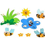Wooden Decorations - Decorations of meadow and bees - Kids' Bedroom Decoration