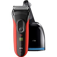 BRAUN Series 3 3050 Clean&Charge Red - Shaver