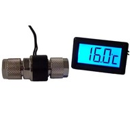 Alphacool thermometer with LCD for 10/8mm tube with red backlight - Accessories