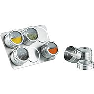 Rosenstein & Söhne Magnetic stand and spice 6pcs - Spice Container Set
