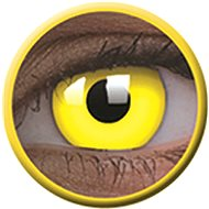 ColourVue Crazy Lens UV shining - Glow Yellow (2 pieces annually) - without prescription - Contact Lenses
