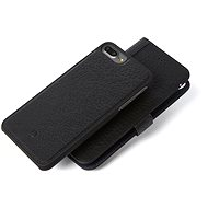 Decorated Leather 2in1 Wallet Case Black iPhone 7 + / 6s + - Protective Case