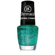 DERMACOL Nail Polish With Effect - Petrol Stardust 5 ml - Nail Polish