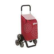 GIMI Tris Floral Red Shopping Trolley 56l - Bike trailer