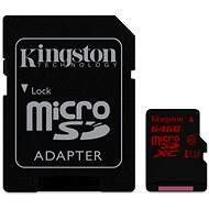 Kingston Micro SDXC 64GB UHS-I U3 + SD Adapter - Memory Card