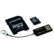 Kingston Micro SDHC 8GB Class 4 + SD Adapter and USB Reader - Memory Card