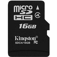 Kingston Micro SDHC 16GB Class 4 - Memory Card