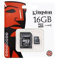 Kingston Micro SDHC 16GB Class 4 + SD Adapter - Memory Card