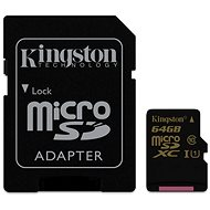 Kingston Micro SDXC 64GB Class 10 UHS-I + SD Adapter - Memory Card