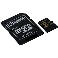 Kingston Micro SDHC 16GB UHS-I U3 + SD Adapter - Memory Card