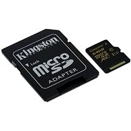 Kingston MicroSDXC 64GB UHS-I U3 + SD Adapter - Memory Card