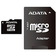 ADATA Micro SDHC 4GB Class 4 + SD Adapter - Memory Card