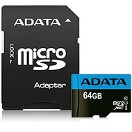 ADATA Premier Micro SDXC 64GB UHS-I Class 10 + SD Adapter - Memory Card