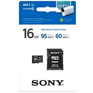 Sony Micro SDHC 16GB Class 10 + SD Adapter - Memory Card