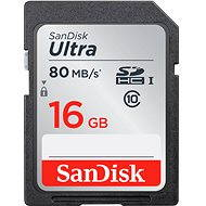 SanDisk SDHC 16GB Ultra Class 10 UHS-I - Memory Card