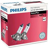 PHILIPS H7 VisionPlus, 55W, socket PX26d, 2pcs - Car Bulb