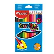 Crayon Maped Color Peps Jumbo 12 colors threesided - Coloured Pencils