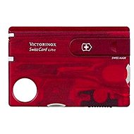 Pocket knife Victorinox Swiss Card Lite Translucent red - Pocket Knife