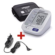 OMRON M3 with colour indicator hypertension + power source - Pressure Monitor