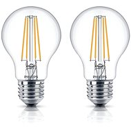 Philips LEDClassic Filament Retro 6-60W, E27, 2700K, clear, set of 2 - LED bulb