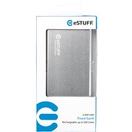EStuff Power Bank 4000mAh Silver - Power Bank