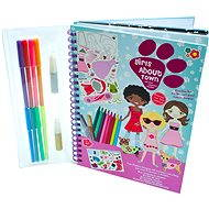 Drawing book with stickers - Little girls in the city - Creative Kit