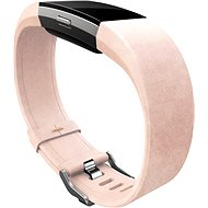 Fitbit Charge 2 Leather Band - Blush Pink Small - Strap